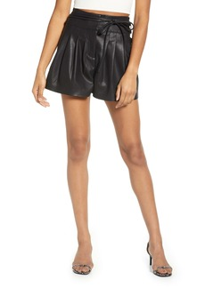 BLANKNYC Faux Leather Paperbag Waist Shorts
