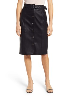 BLANKNYC Faux Leather Pencil Skirt
