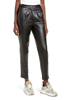 BLANKNYC Faux Leather Pleated Trousers