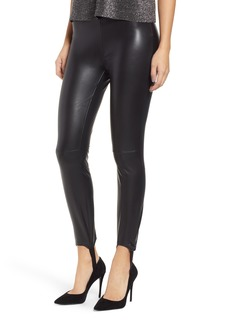 BLANKNYC Faux Leather Stirrup Leggings