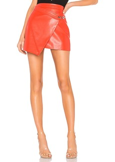 BLANKNYC Faux Leather Wrap Skirt