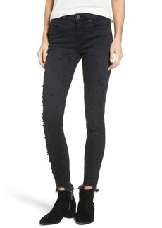 BLANKNYC Faux Pearl Embellished Skinny Jeans (Star Sign)