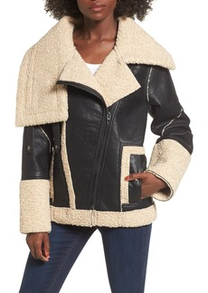 BLANKNYC Faux Shearling & Faux Leather Jacket