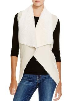 BLANKNYC Faux Shearling Drape Front Vest
