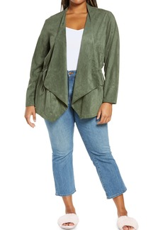 BLANKNYC Faux Suede Drapey Jacket (Plus Size)