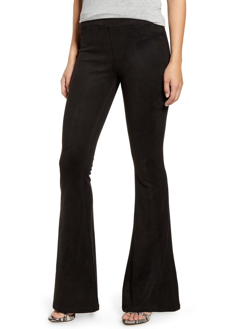 BLANKNYC Faux Suede Flare Pull-On Pants