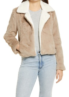 BLANKNYC Feel the Love Faux Fur Jacket