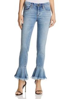 BLANKNYC Flare-Cuff Jeans