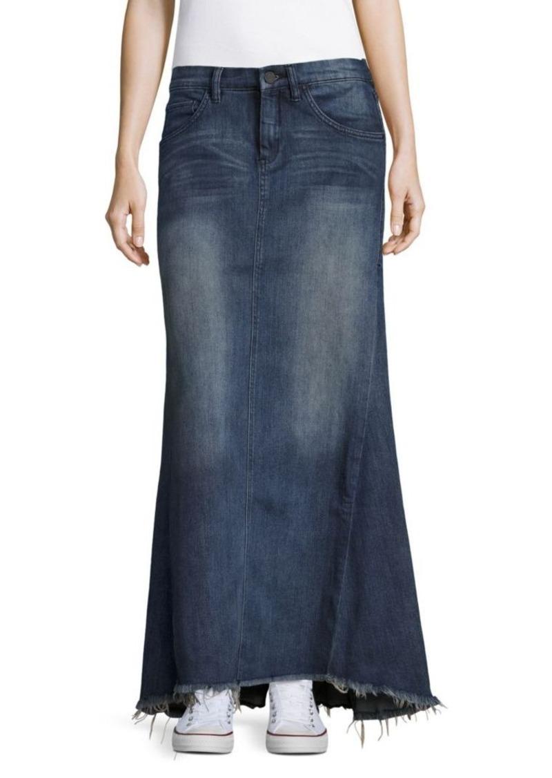 Blank BLANKNYC Flared Frayed-Hem Denim Skirt | Skirts - Shop It To Me