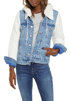BLANKNYC Fleece Contrast Denim Jacket