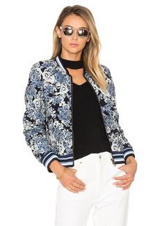 BLANKNYC Floral Bomber Jacket