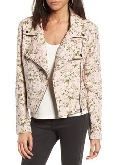 BLANKNYC Floral Jacquard Moto Jacket