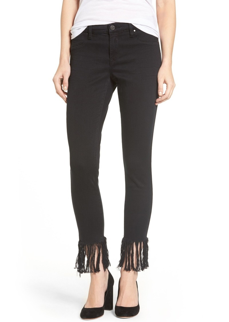 BLANKNYC Fray Hem Skinny Jeans (Be Afrayed)