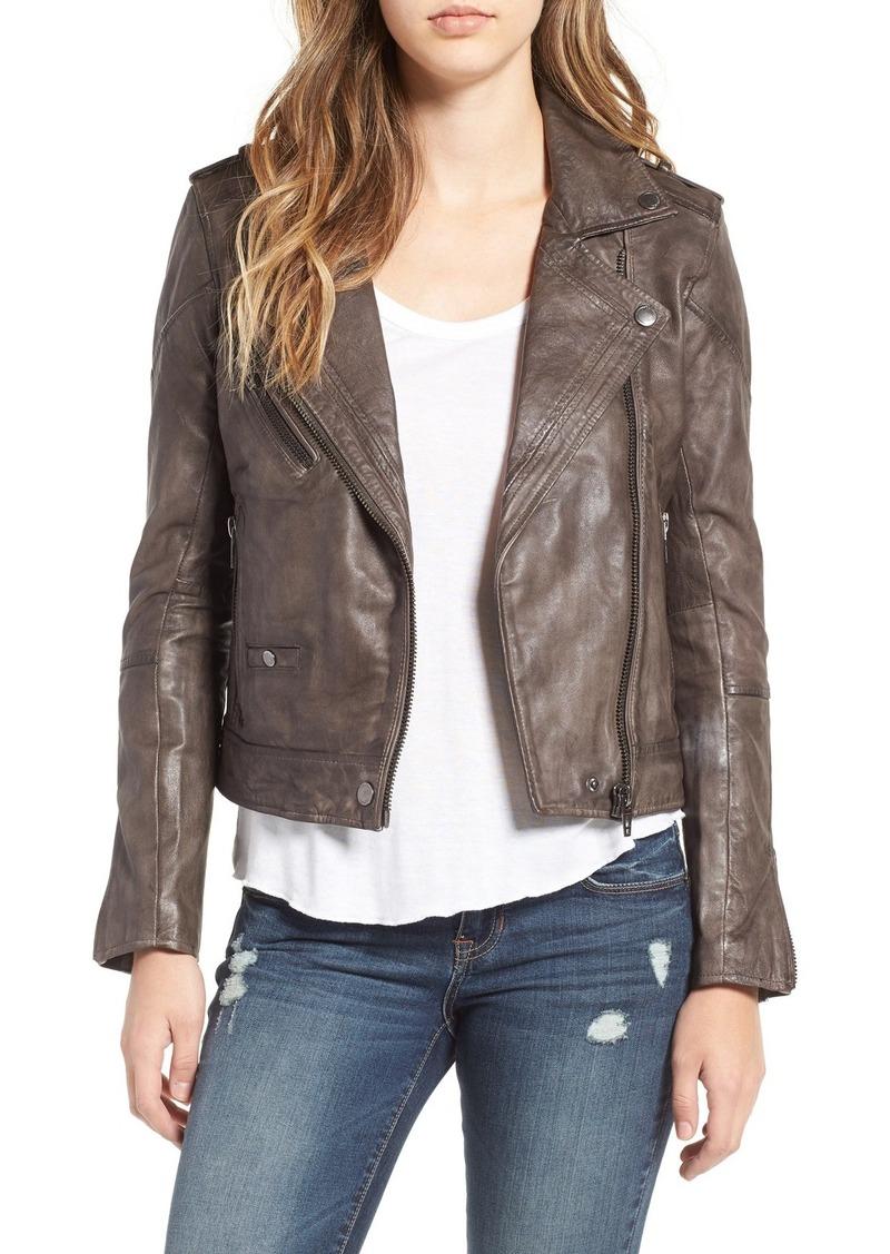 BLANKNYC Genuine Leather Moto Jacket