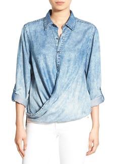 BLANKNYC 'Glamper' Wrap Front Shirt