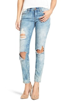 BLANKNYC Good Vibes Distressed Skinny Jeans (Medium Wash Blue)