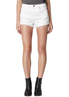 BLANKNYC Great White Cutoff Denim Shorts (Mont Blanc)