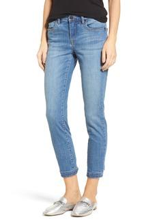 BLANKNYC Happy Place Tie Hem Skinny Jeans