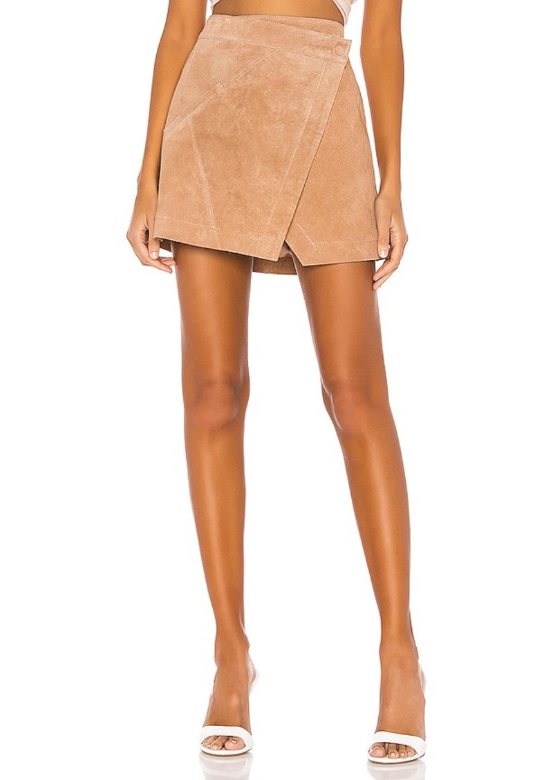 BLANKNYC High Rise Suede Skirt