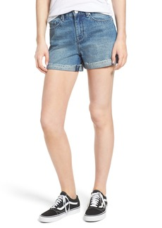 BLANKNYC High Waist Denim Mom Shorts (Guilty Party)