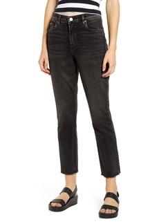 BLANKNYC High Waist Straight Leg Crop Jeans (Nitro)