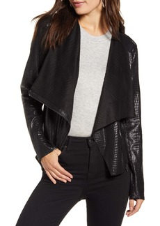 BLANKNYC Iron Girl Croc Embossed Faux Leather Jacket