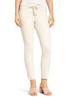 BLANKNYC Lace-Up Crop Skinny Jeans (Patch Job)