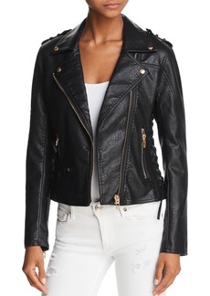 BLANKNYC Lace-Up Faux Leather Moto Jacket - 100% Exclusive