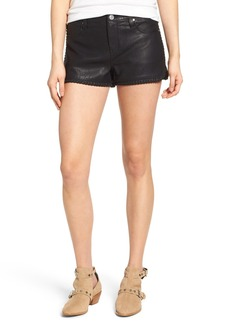 BLANKNYC Lace Up Faux Leather Shorts