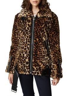BLANKNYC Leopard Faux Fur Jacket