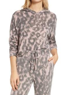 BLANKNYC Leopard Hooded Sweatshirt