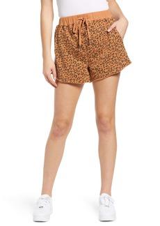 BLANKNYC Leopard Knit Shorts