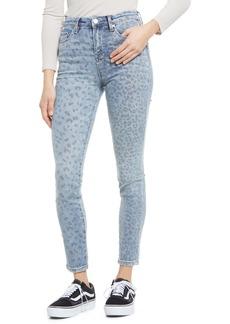BLANKNYC Leopard Print High Waist Skinny Jeans (Scratched)