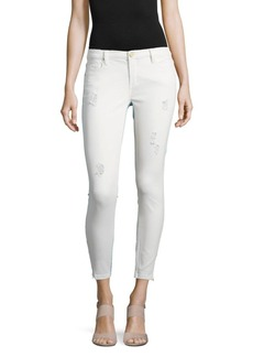 BLANKNYC Light Destruction Distressed Cropped Pants
