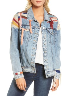 BLANKNYC Liquid Summer Beaded Denim Jacket
