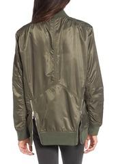 BLANKNYC Long Nylon Bomber Jacket