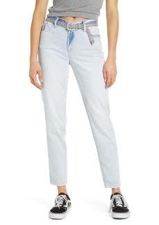 BLANKNYC Ludlow Belted Girlfriend Jeans (Allstar)