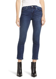 BLANKNYC Madison High Waist Crop Straight Leg Jeans (Into the Blue)