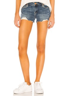 BLANKNYC Medium Indigo Astor Cut Off Short