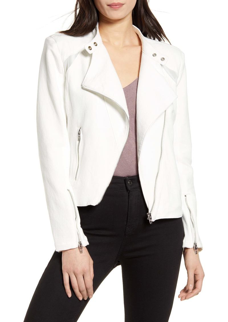 BLANKNYC Mesh Panel Moto Jacket