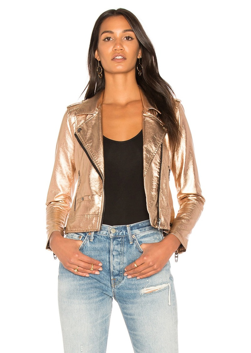 Blank Metallic Moto Jacket