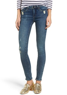 BLANKNYC Mind Games Distressed Skinny Jeans