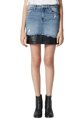 BLANKNYC Mixed Media Denim Skirt (Shaken Not Stirred)