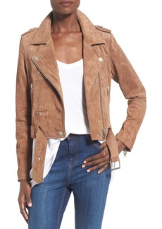 BLANKNYC Morning Suede Moto Jacket