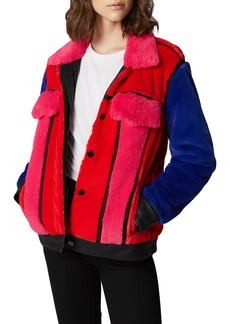 BLANKNYC Multicolor Faux Fur Jacket