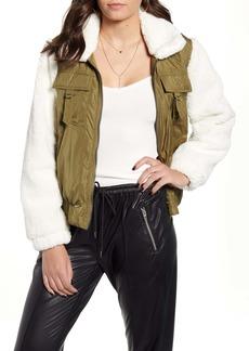 BLANKNYC Nylon & Fleece Jacket