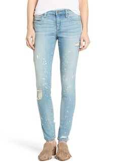 BLANKNYC Paint Splatter Skinny Jeans (Silent Shout)