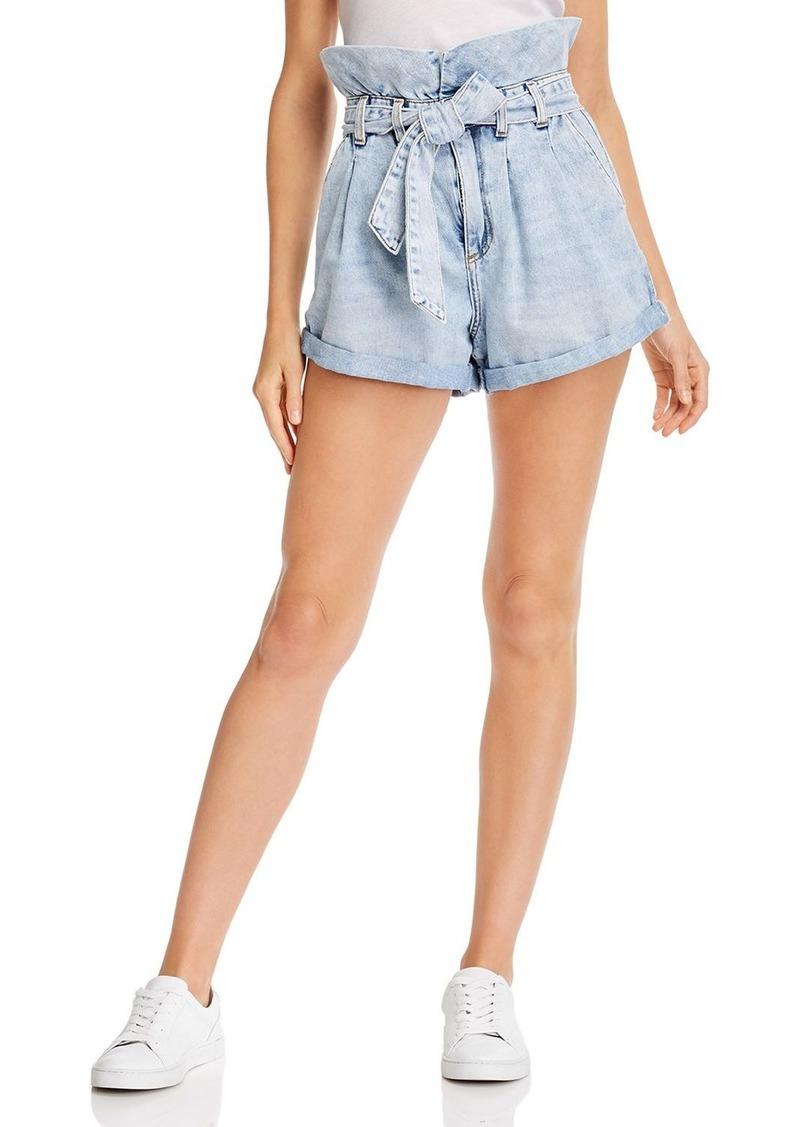 BLANKNYC Paperbag Jean Shorts in Caribbean Blue