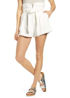 BLANKNYC Paperbag Waist Belted Shorts