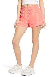 BLANKNYC Paperbag Waist Nylon Shorts